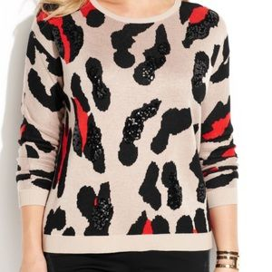 International Concepts INC sequined animal sweater